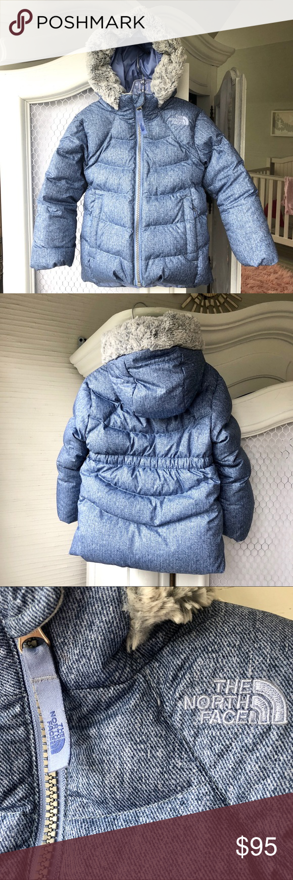 NORTH FACE WARM GOOSE DOWN PUFFER JACKET W/ HOOD Toddler
