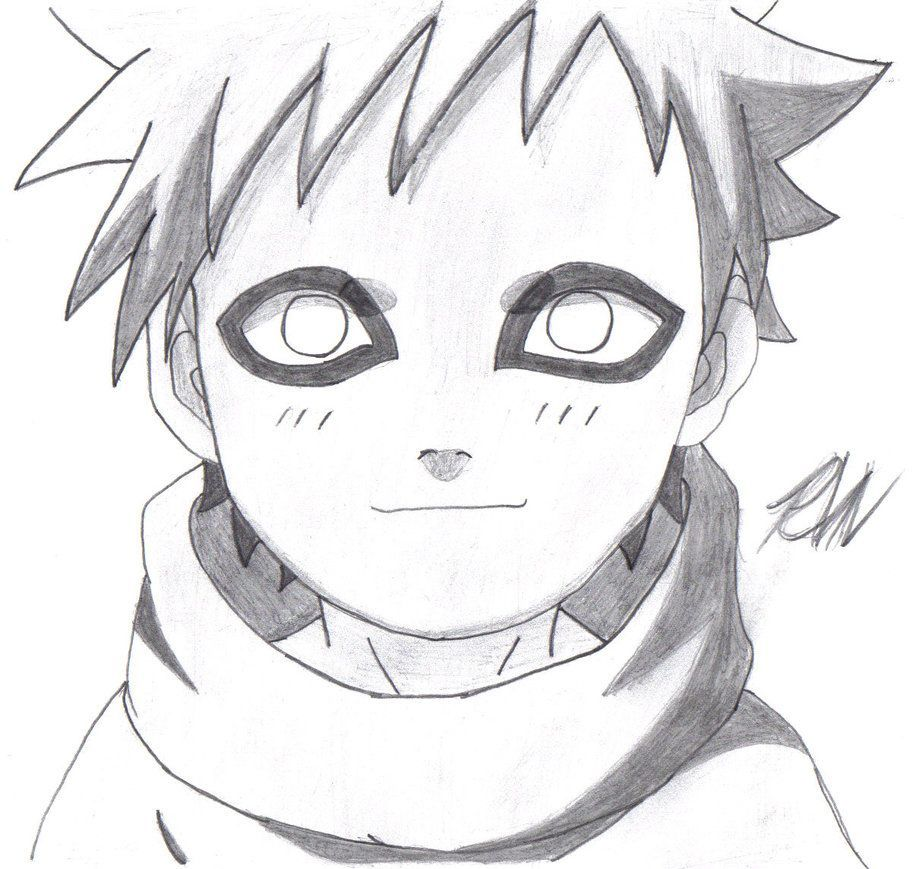 How To Draw Gaara From Naruto Step By Step How To Draw