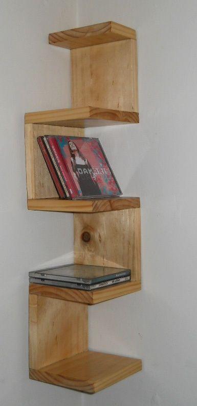 repisas originales para libros - Buscar con Google Corner shelf
