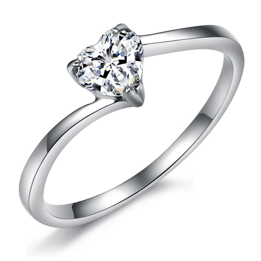 purity ring | Stainless Steel Finger Ring girls purity rings heart ...