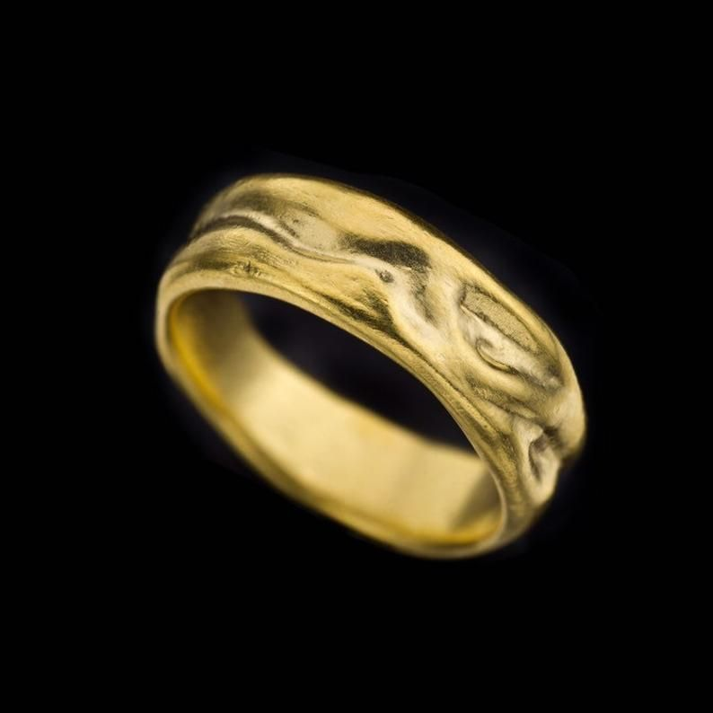 18k solid gold wedding ring 18k solid gold curved wedding