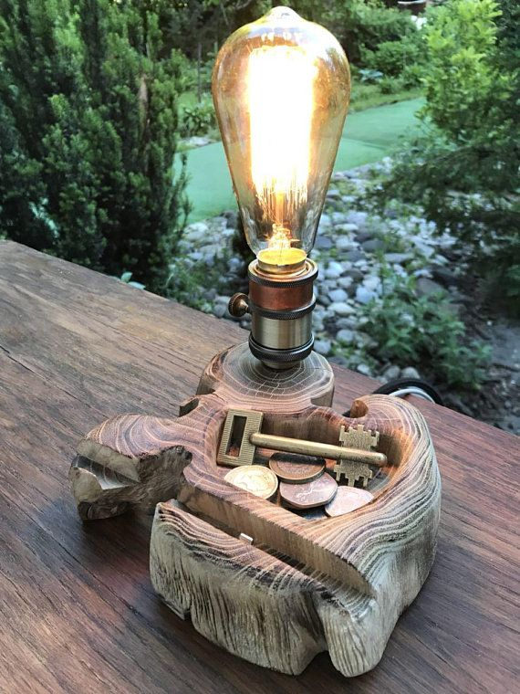 Desk Lamp Rustic Lighting Edison Bulb Bedside Lamp