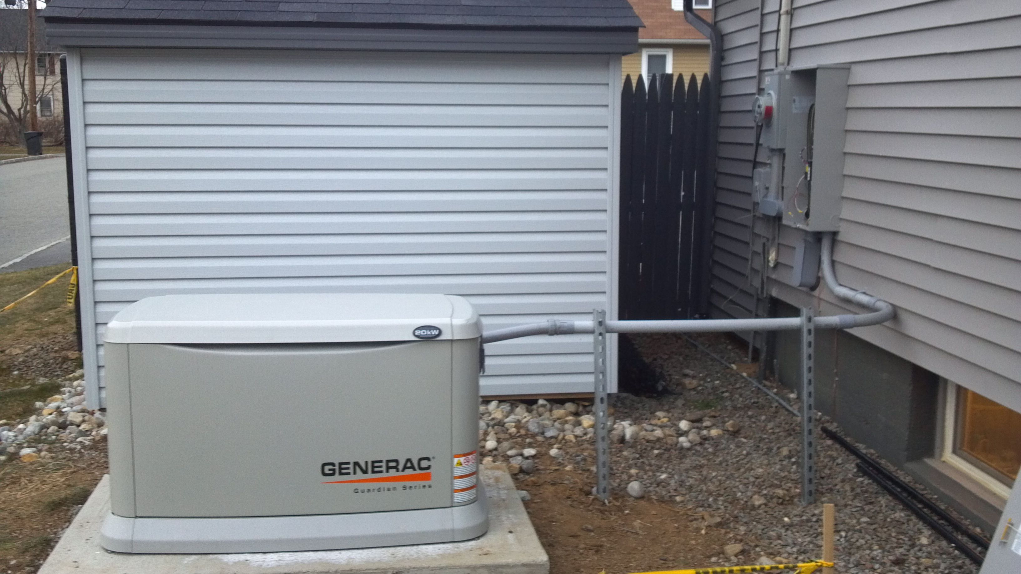 For when the lights go out Whole house Generac natural gas