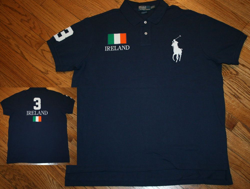 3bdc00db Polo Ralph Lauren Custom Fit Ireland #3 big pony Shirt Men's 2XL xxl golf  rugby #PoloRalphLauren #PoloRugby