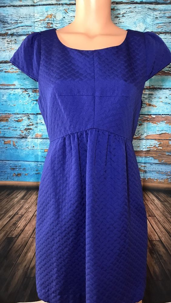 HD In Paris Anthropologie Women's Purple Dress Sz 10 Anthro  | eBay