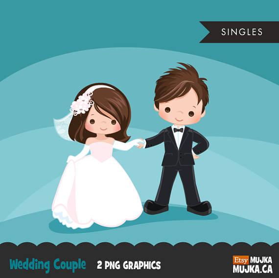 Clipart De Couples De Mariage Graphiques De Mariee Et De Etsy Wedding Couples Couple Clipart Valentines Day Couple