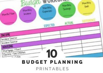 budget planning sheets