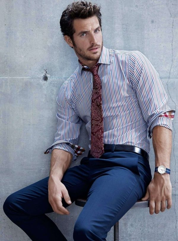 Looks masculinos pra trabalhar em empresa casual Vestindo