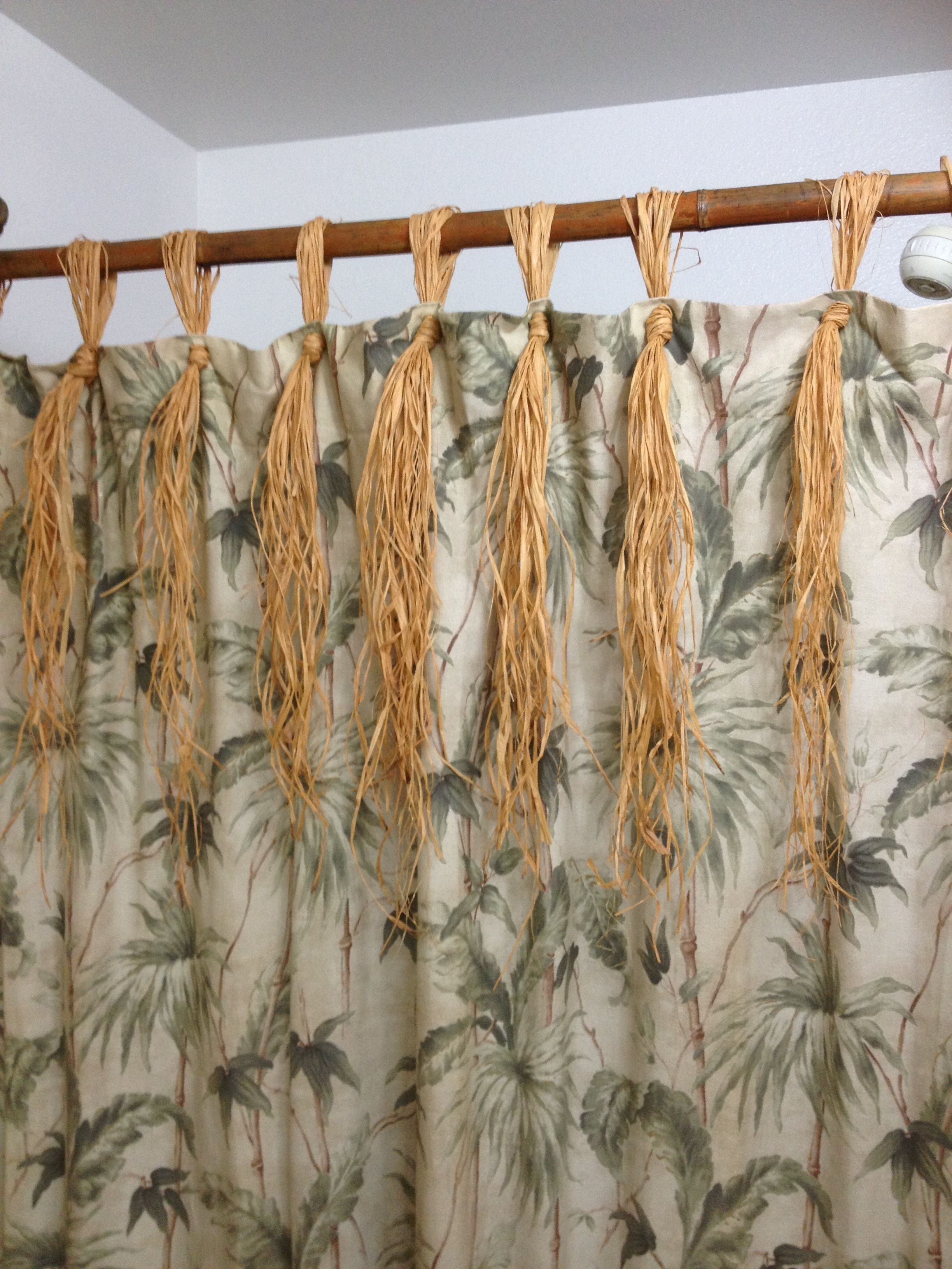 Bamboo Shower Curtain Rod Raffia Curtains Bamboo Curtains