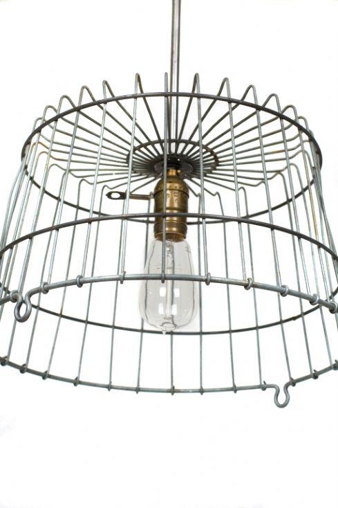 Wire Basket Light Fixture Basket Lighting Diy Light Fixtures