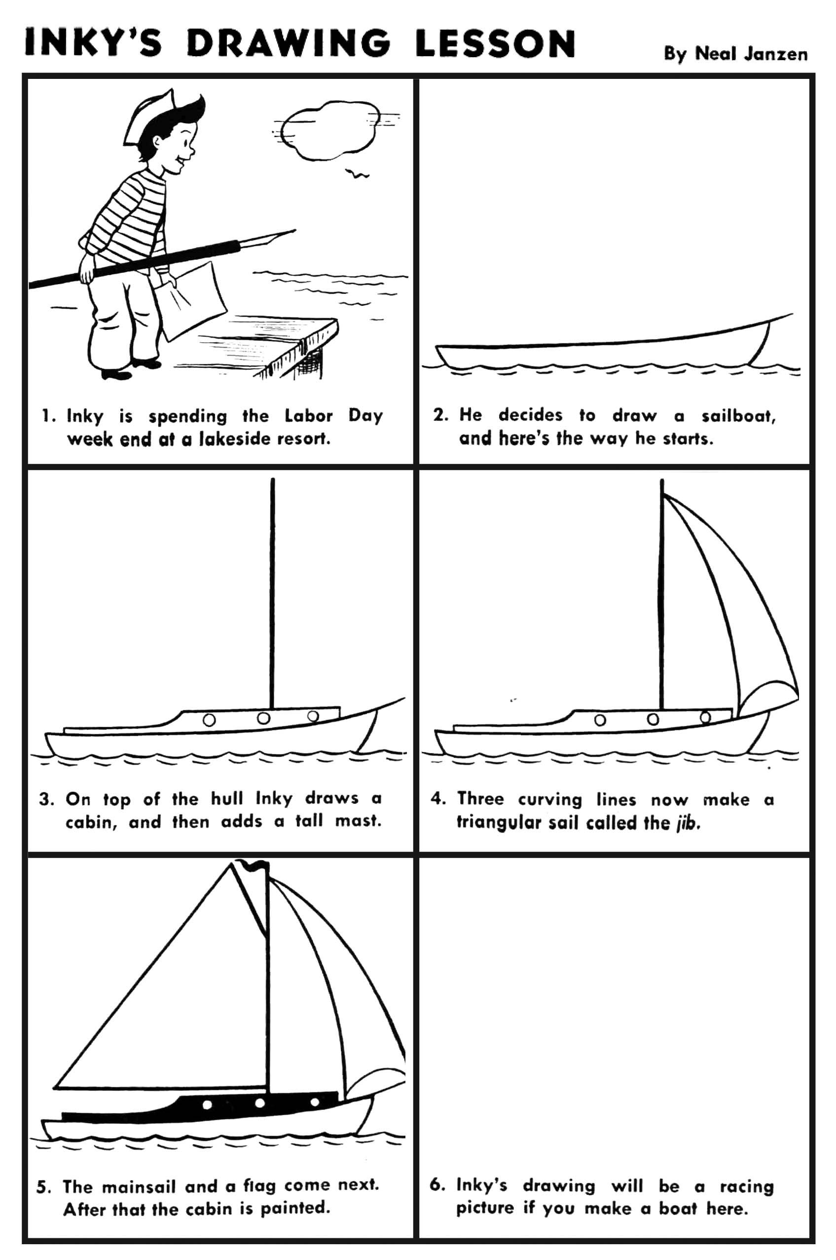 Inky S Drawing Lesson Sailboat