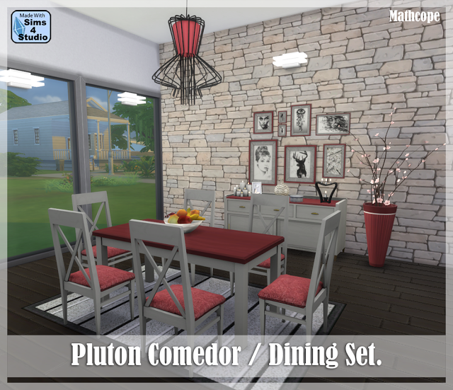 Modern Living Room Set Sims 3: The Best: Pluton Dining Set By Mathcope