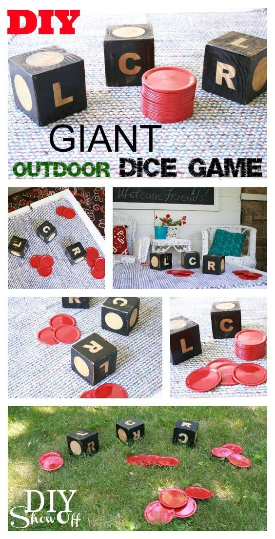Diy projects outdoor games giant diy dice game of lcr so much do it yourself outdoor party games the best backyard entertainment diy projects solutioingenieria Images