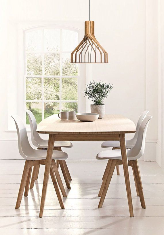 Wood Lighting Pendant Lamp Modern Hanging Light Kitchen Etsy Scandinavian Dining Room Dining Room Design Dining Room Decor Rustic