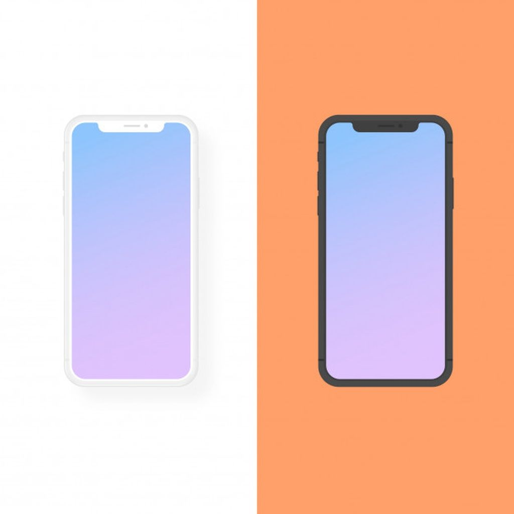Iphone clay and flat design vector mockup #paid, , #Paid, #AD, #flat, #mockup, #vector, #clay