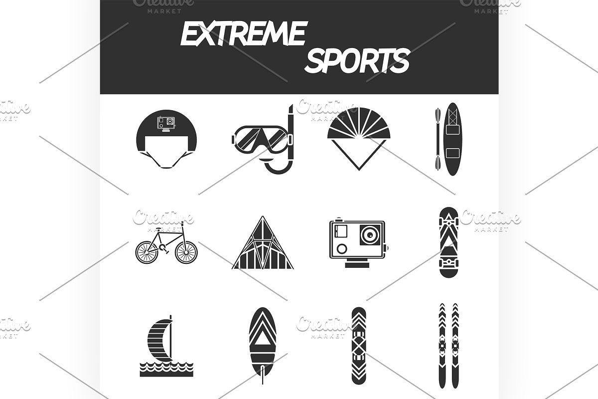 Ski And Snowboard Equipment Pattern In