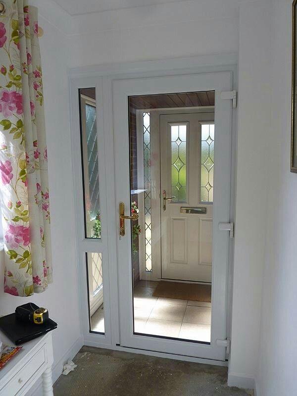 Inner Porch Door With Images Panel Doors Foyer Flooring