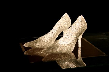 glass lace slippers (to go with the feather gown)