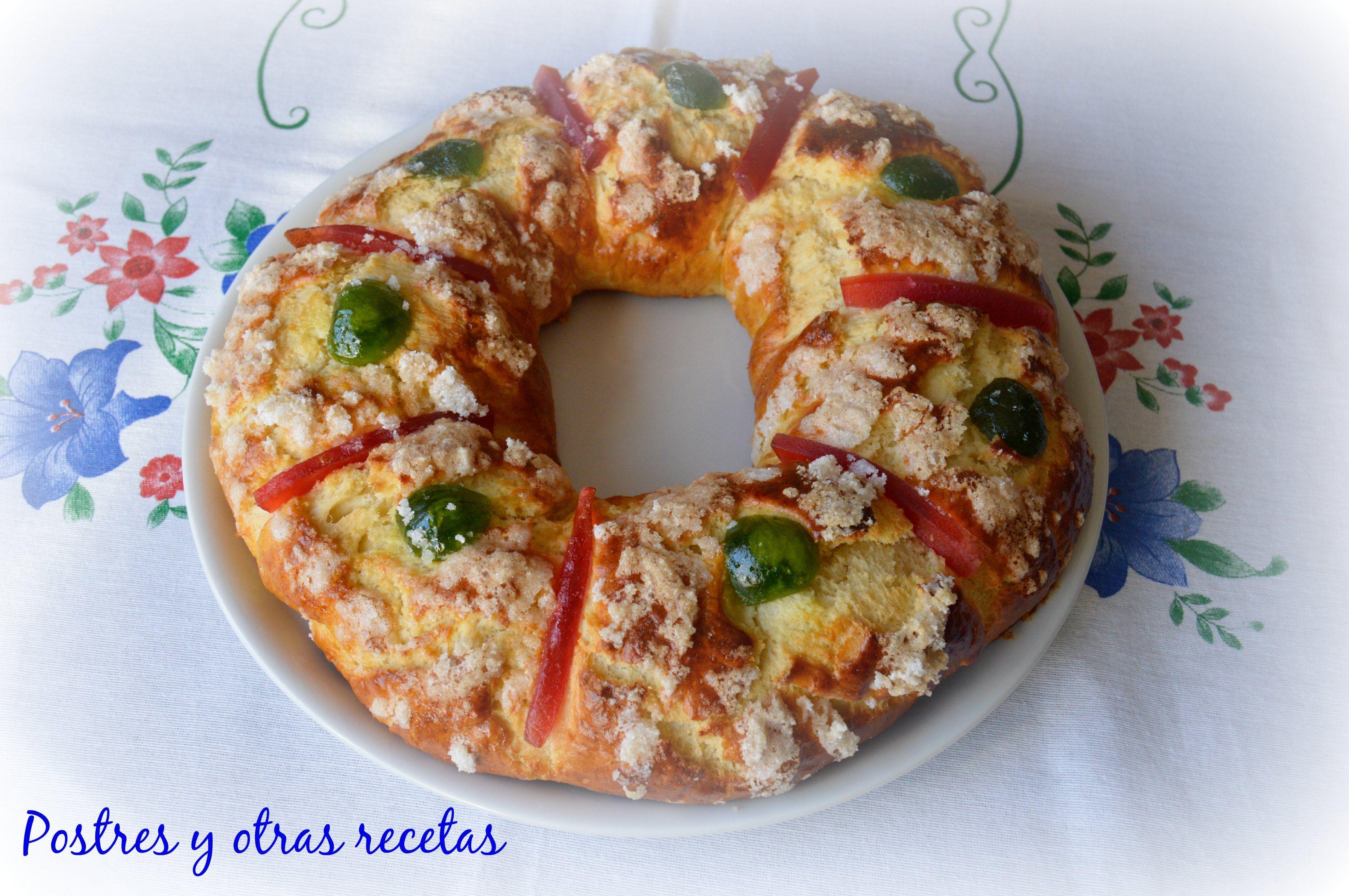 Rosca de Pascua. Receta en: postresyotrasrecetas.blogspot.com