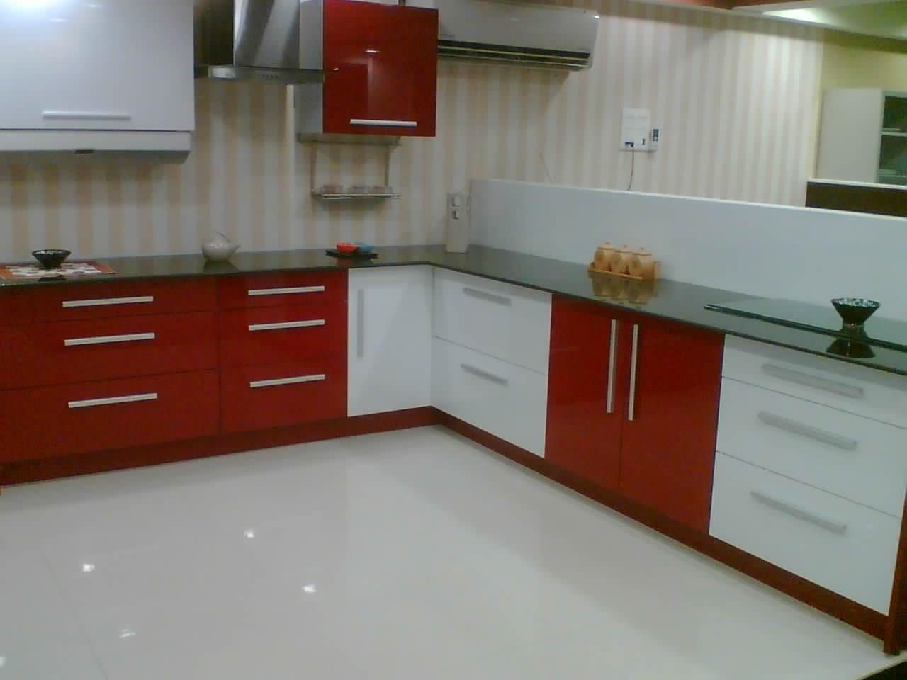 modular kitchen designs red white. full size of kitchen