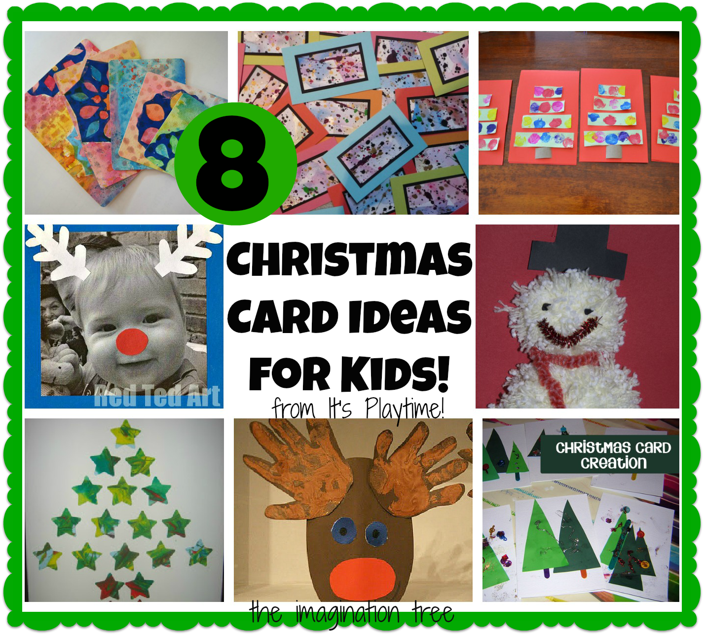 8 Christmas Cards Kids Can Make Its Playtime Christmas Cards