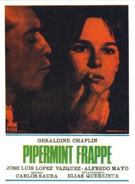 Peppermint Frappé 1967 Stars Geraldine Chaplin José Luis López Vázquez Alfredo Mayo Director Carlo Afiche De Cine Carteles De Cine Poster De Peliculas