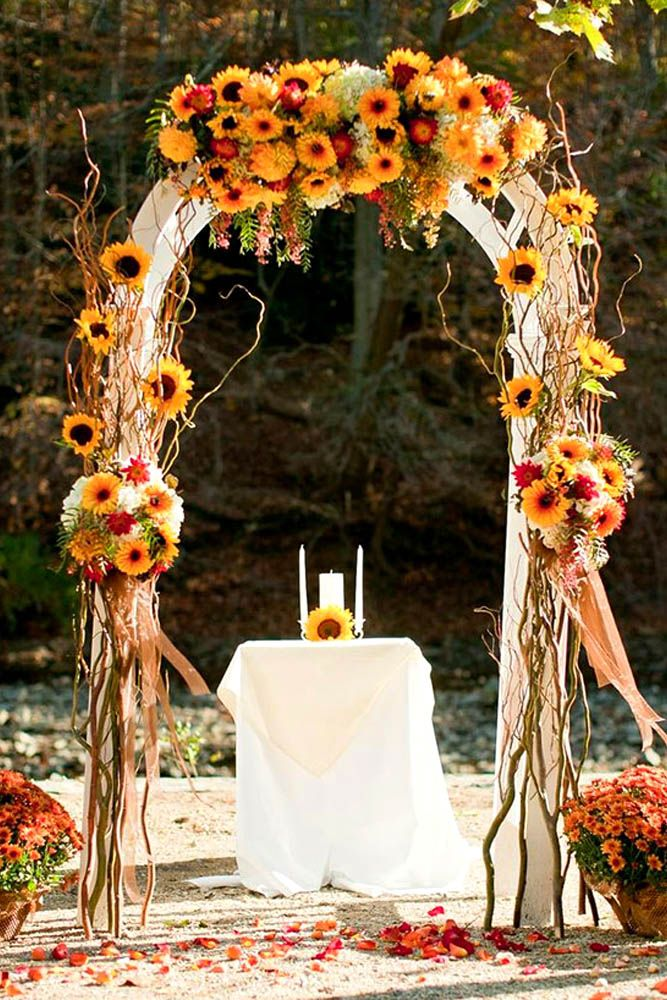 27 incredible ideas for fall wedding decorations when i say i do fall wedding arches 3 junglespirit Images