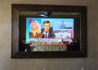 Two Way Mirror With Hidden Tv Custom Tvs Modern