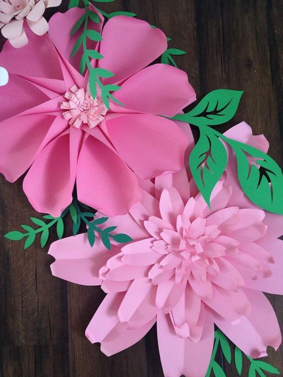 Paper Flower Backdrop, Giant Paper Flowers, Paper flower wall ...