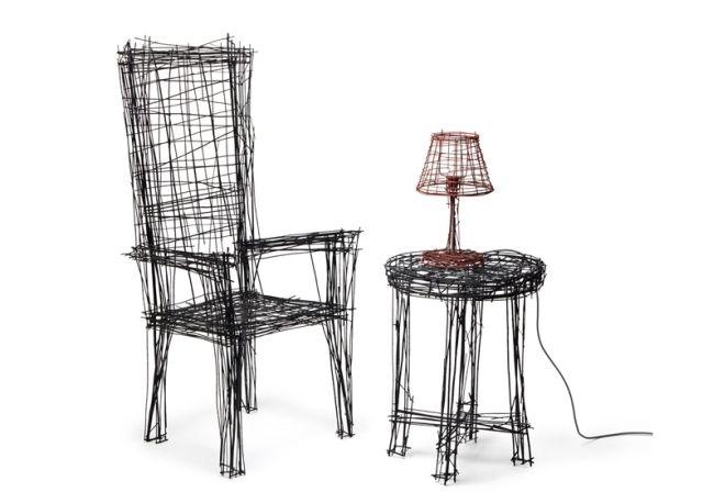 ausgefallene möbel-Drawing series-Jinil Park-Design Stuhl-Tisch