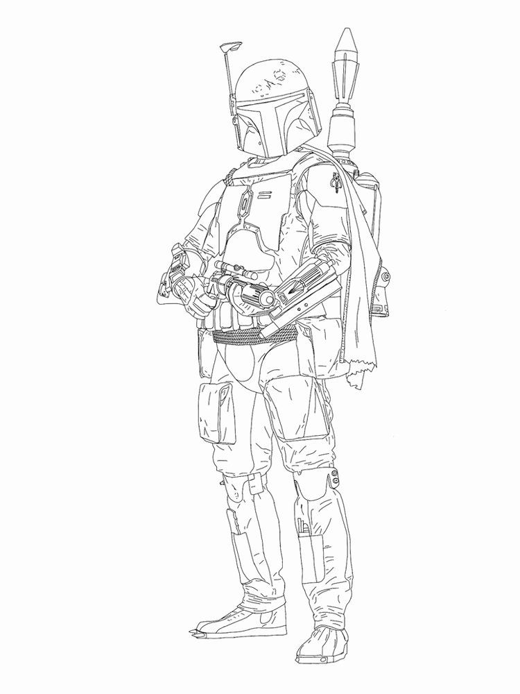28 Boba Fett Coloring Page In 2020 Coloring Pages Truck