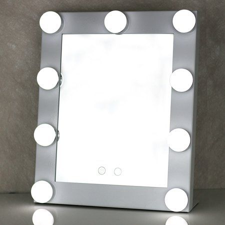 Portable Touch Screen 9 Leds Bulb Lighted Tabletop Beauty Makeup