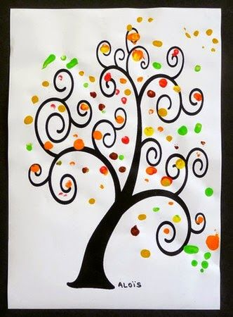 les 25 meilleures id es de la cat gorie arbre automne sur pinterest activit automne. Black Bedroom Furniture Sets. Home Design Ideas