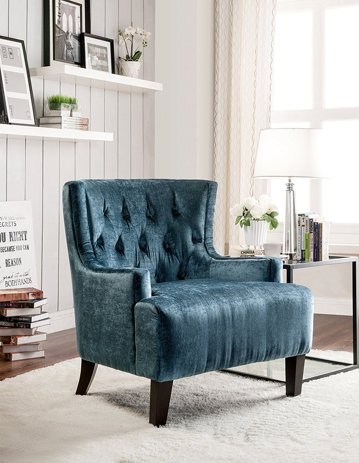 Iconic home hemingway modern tufted teal