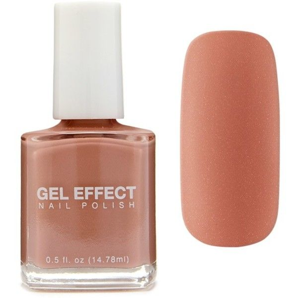 Forever21 Light Brown Gel Effect Polish (€3,67) ❤ liked on Polyvore featuring beauty products, nail care, nail polish, light brown, gel nail care, forever 21 nail polish, shiny nail polish, gel nail polish and gel nail color