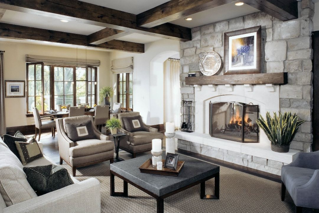 Country Style Living Room Decor Modern Farmhouse Beautiful Luxury