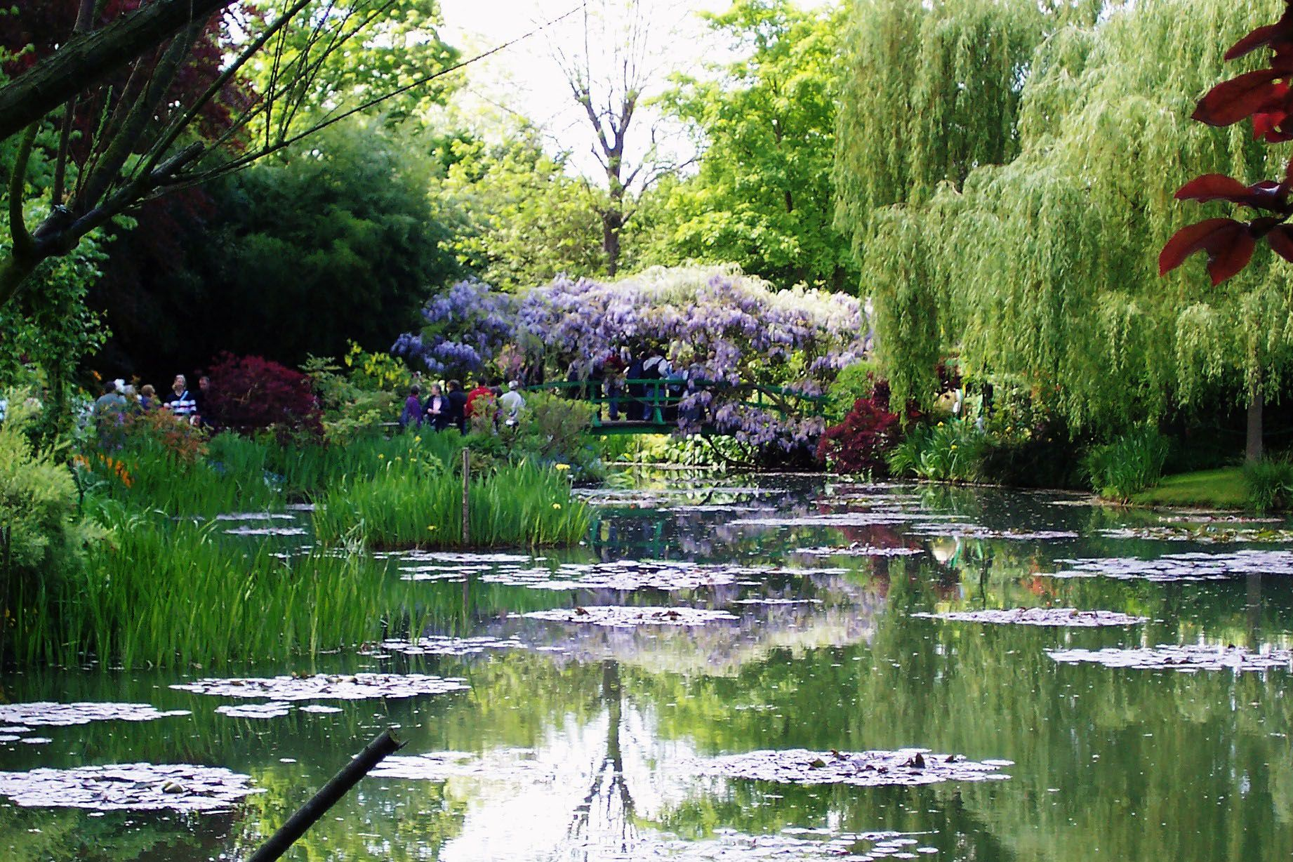 Water Bridge In Monetu0027s Garden Giverny France Bring Wild Life To The Yard  With A Pond