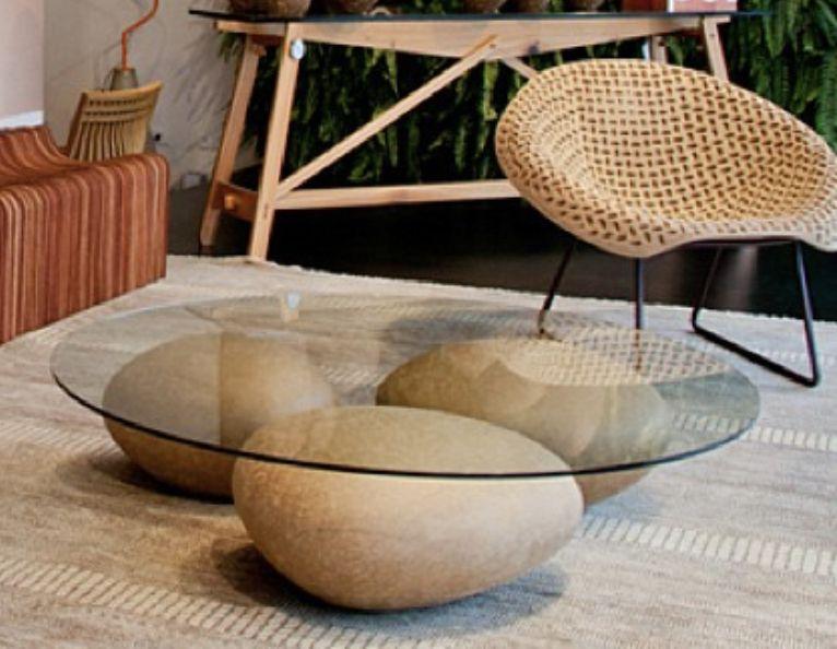 Mesa Agua Coffee Table Natural Sossego Modern Table Design Modern Table Table Design
