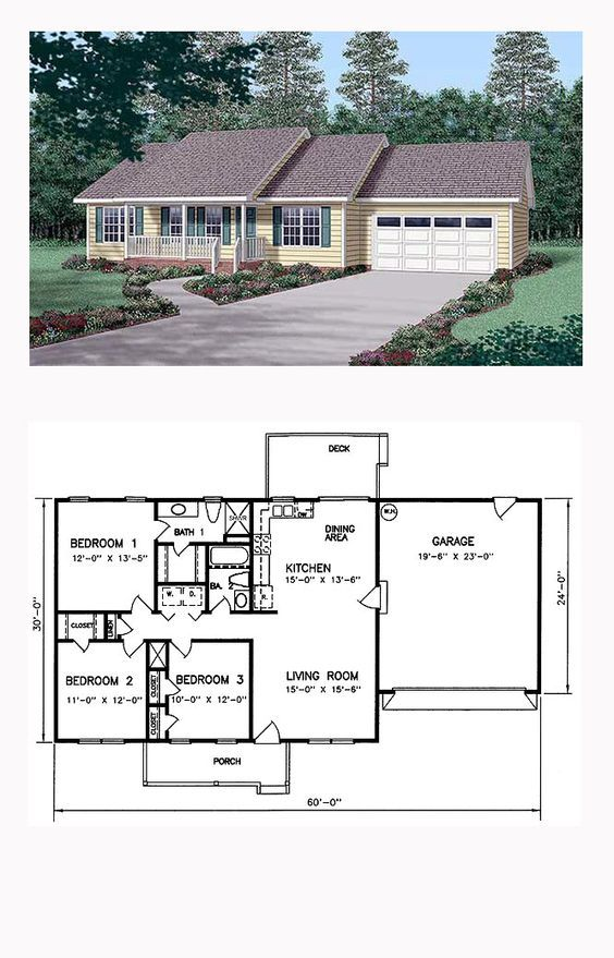 Ranch Style House Plan 45269 With 3 Bed 2 Bath 2 Car Garage Ranch Style House Plans Craftsman House Plans Ranch Style Homes
