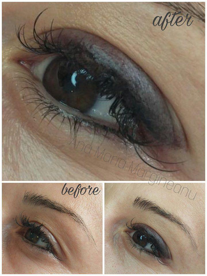 Smokey Eyes Permanent Makeup Eyeliner Before After Eyeliner
