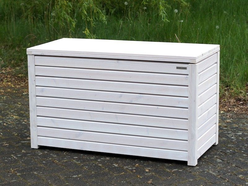 Auflagenbox Kissenbox Holz Transparent Geolt Weiss Auflagenbox