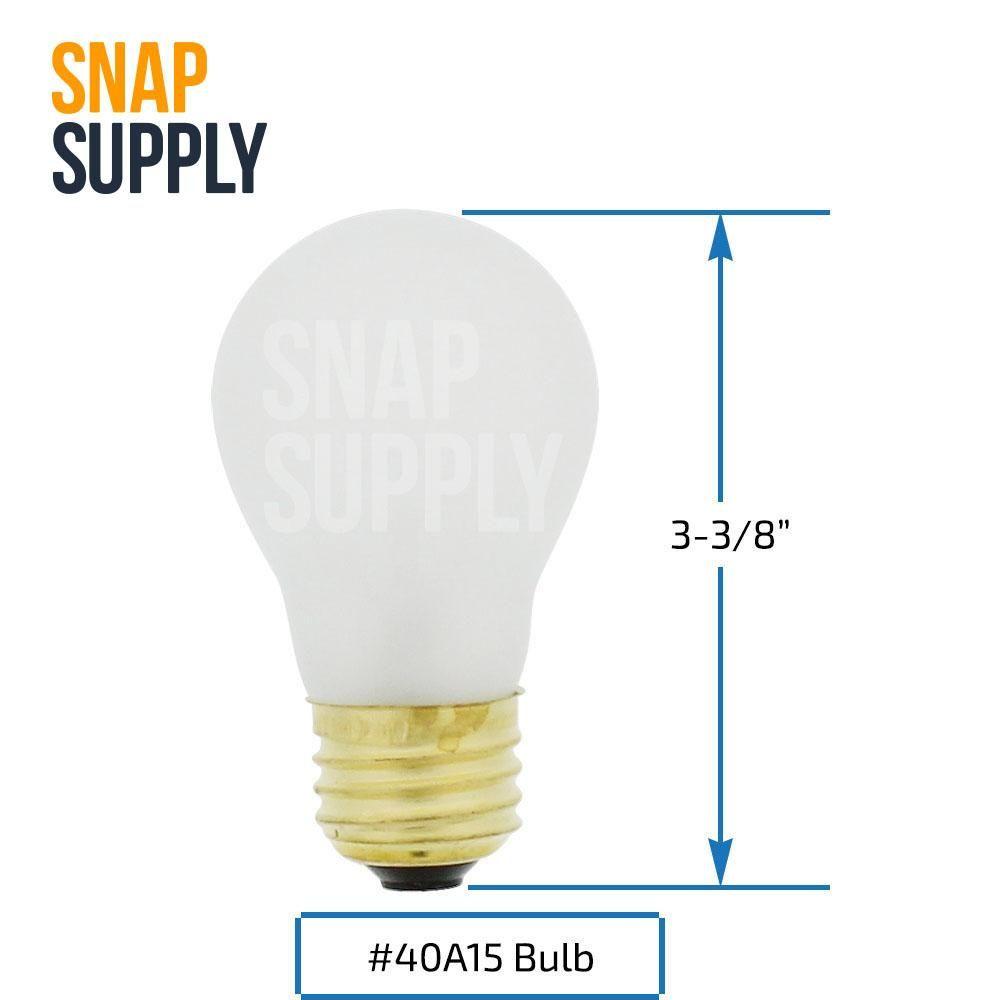 40a15 incandescent shatter resistant light bulb 40watt