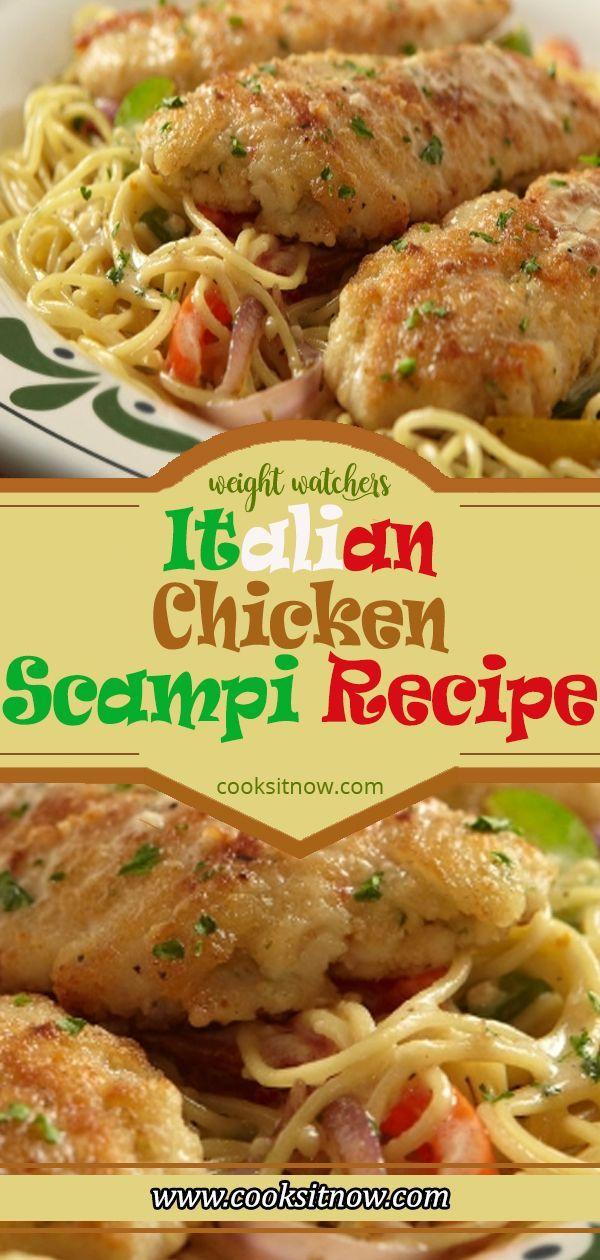 Italienisch Huhn Scampi Rezept. Weight Watchers Smart-Punkte Freundlich #WW #weightwatchers #weight_watchers #Chicken #Italian #recipes #smartpoints #Scampi #Easy #EasyRecipe #rezepte #gesunderezepte