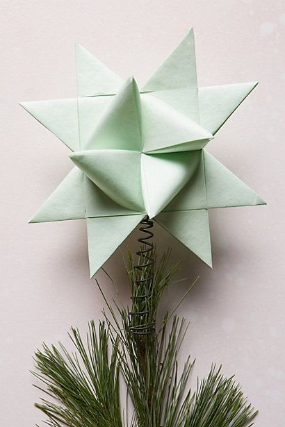 Origami Star Tree Topper Xmas Tree Toppers Christmas Tree Toppers Tree Toppers