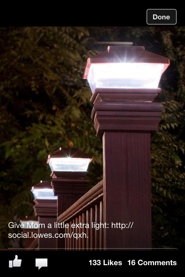 Solar lights for deck fence post