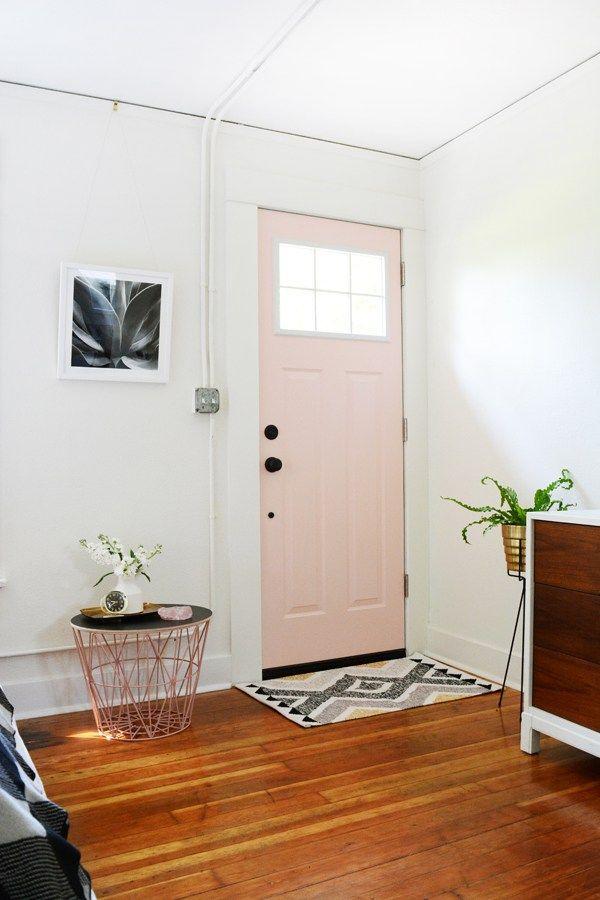 Craftsman Jeld Wen Door From Home Depot Painted Pink Living
