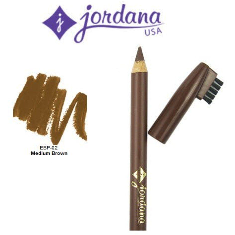 3 Pack Jordana Cosmetics Fabubrow Eyebrow Pencil 02 Medium Brown