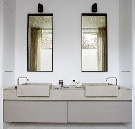 Spiegels en verlichting canal house amsterdam piet boon badkamers pinterest spiegels - Spiegel wc ontwerp ...