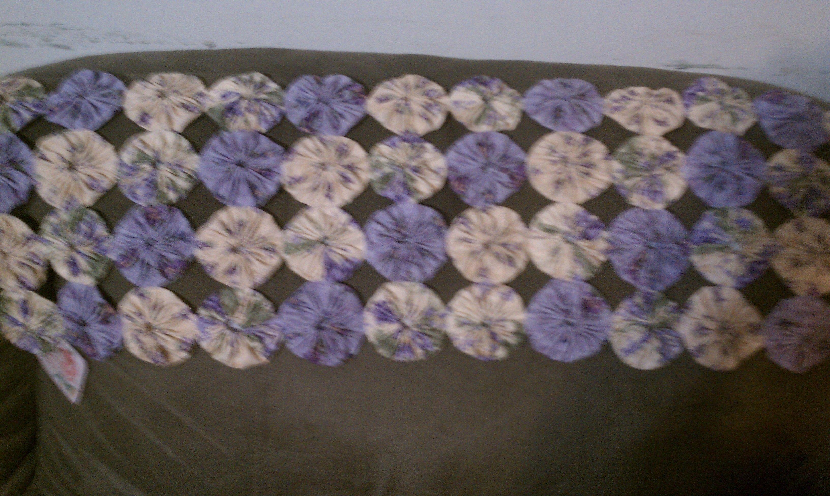 My latest yo yo mat,,,lavenders