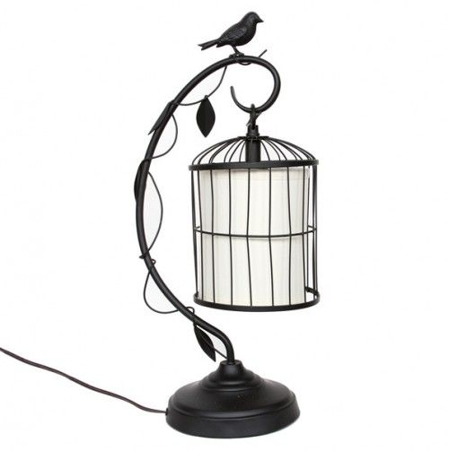 Hanging Table Lamp: Hanging Birdcage Table Lamp